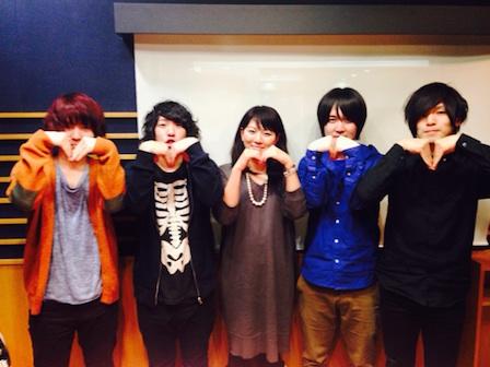 「KANA,BOON」 (VoGu)谷口 鮪さん、 (GuCho)古賀 隼斗さん、 (Ba)飯田 祐馬さん、 (Dr)小泉 貴裕さん